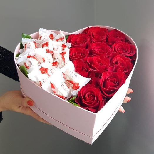 Сердечные дела: букеты цветов на заказ Flowwow