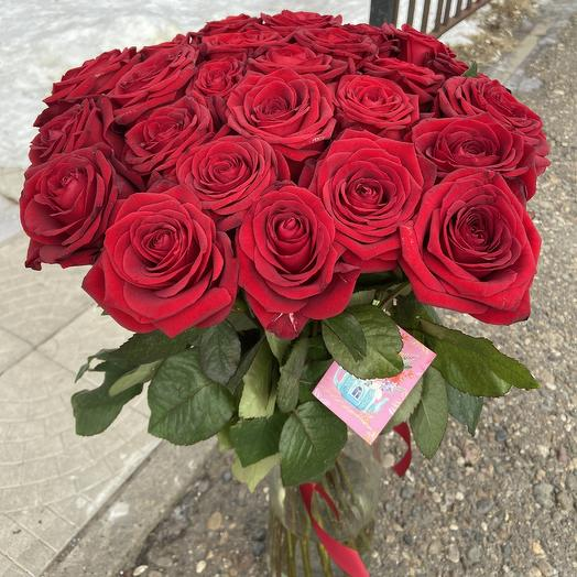 25 красных роз для любимой️: букеты цветов на заказ Flowwow