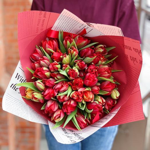 Дракон: 49 тюльпанов: букеты цветов на заказ Flowwow
