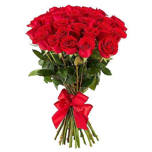 25 красных роз Эквадор