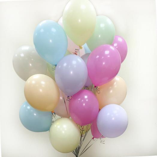 Нежный микс шаров: букеты цветов на заказ Flowwow