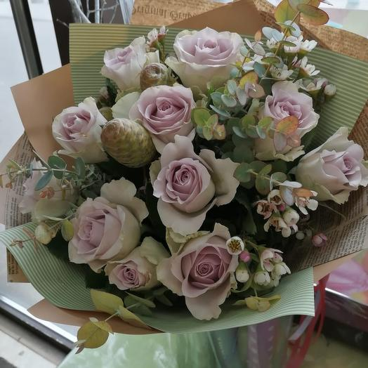Пудровая симфония: букеты цветов на заказ Flowwow