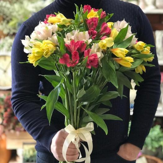Букет альстромерий микс 15 шт: букеты цветов на заказ Flowwow