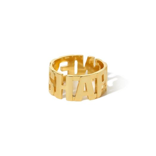 Позолоченное кольцо Happiness, размер 18: букеты цветов на заказ Flowwow