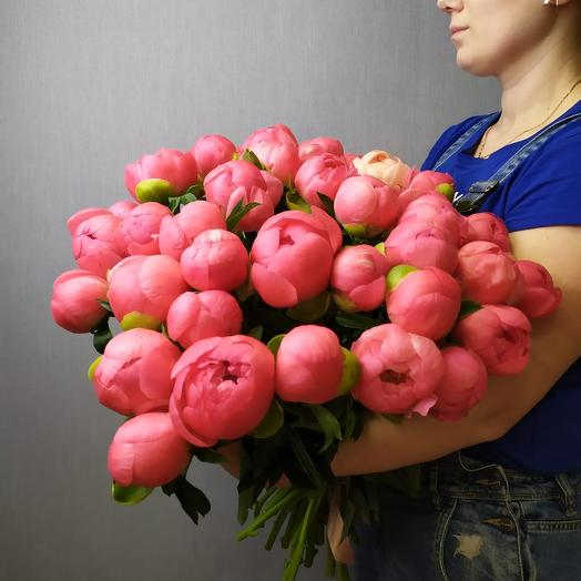 Пионы 49: букеты цветов на заказ Flowwow