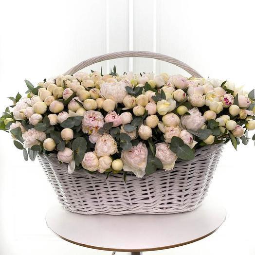 501 белый пион: букеты цветов на заказ Flowwow