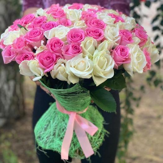 101 роза в сетке