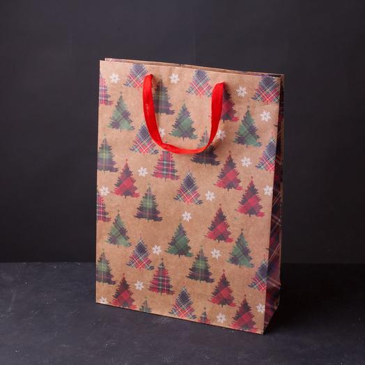 Пакет подарочный новогодний 40х55 в ассорт