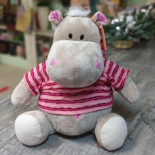 мягкая игрушка  Бегемот Жорик 30 см