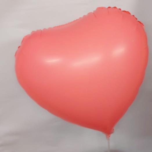 Шар розовое сердце