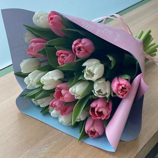Нежные тюльпаны 23 шт