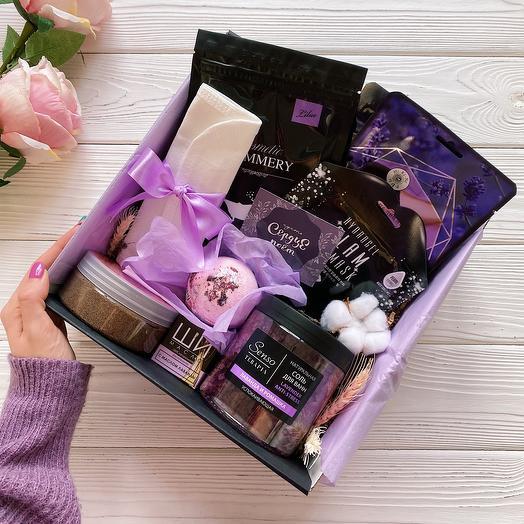Косметический женский подарочный набор Lavanda Box / Подарок девушке/ Спа набор