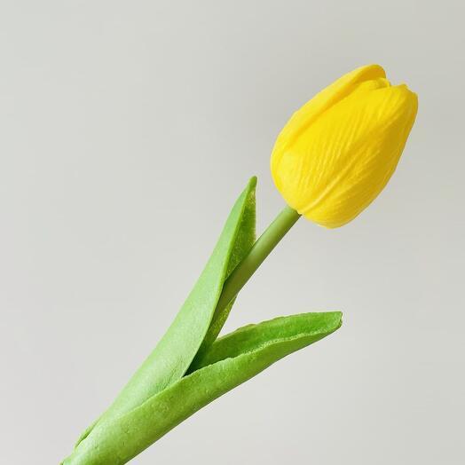 Желтый тюльпан (искусственный)