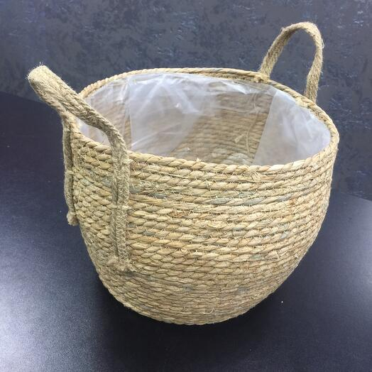 Плетёный Бочонок из натуральных материалов