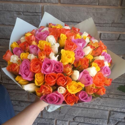 Акция 💥 букет из 101 розы