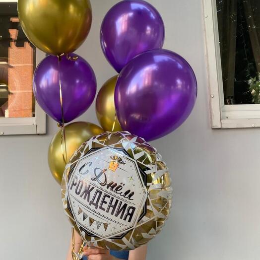 Связка Золотая в день рождения