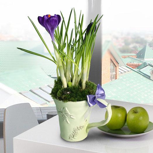 Цветочная композиция Нежность: букеты цветов на заказ Flowwow