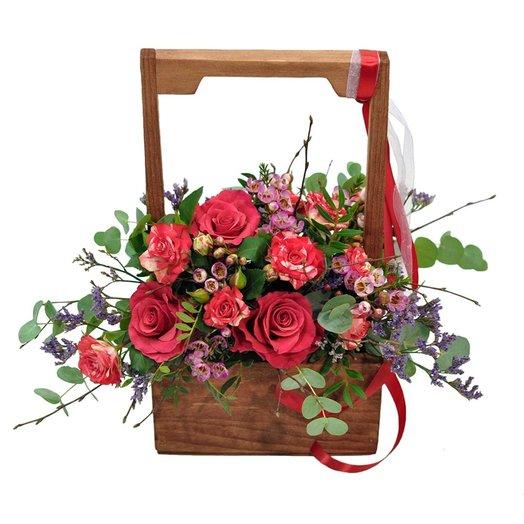 Ящик Черри: букеты цветов на заказ Flowwow
