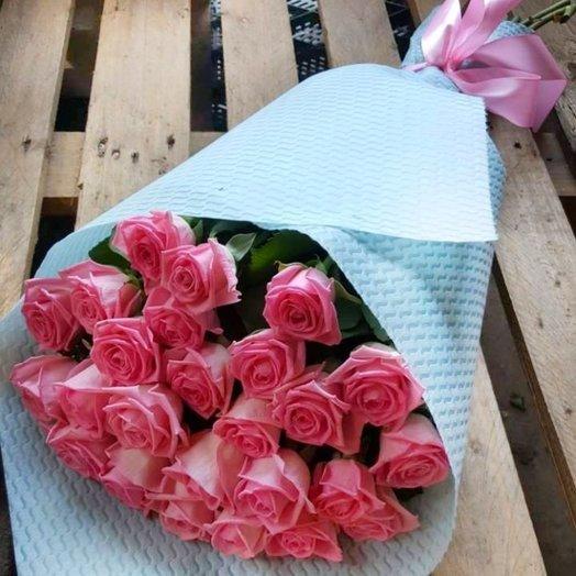 25 роз Длинных в крафте: букеты цветов на заказ Flowwow