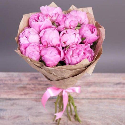 Букет пионов «Розовая нежность»: букеты цветов на заказ Flowwow