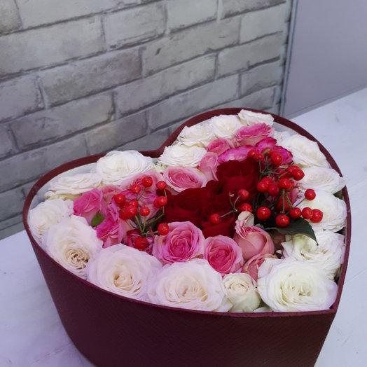 Влюбленное сердце: букеты цветов на заказ Flowwow