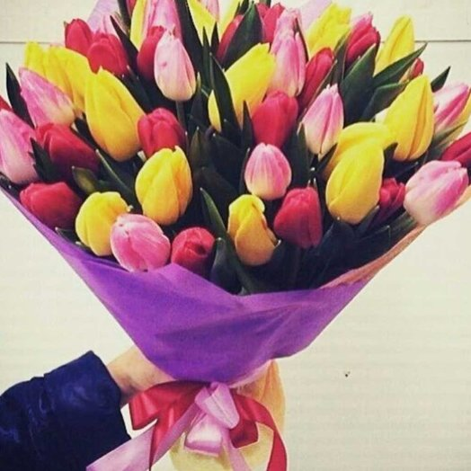 51 микс тюльпан: букеты цветов на заказ Flowwow