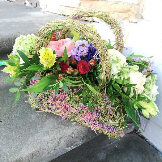 """Композиция в корзине """"Лето"""" : букеты цветов на заказ Flowwow"""