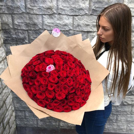 101 роза Единственная: букеты цветов на заказ Flowwow