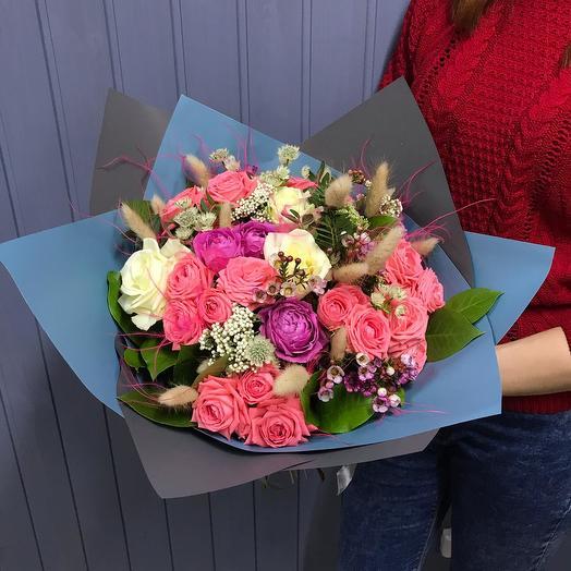 Розовый шарм: букеты цветов на заказ Flowwow