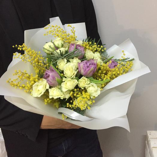 Весенний презент: букеты цветов на заказ Flowwow