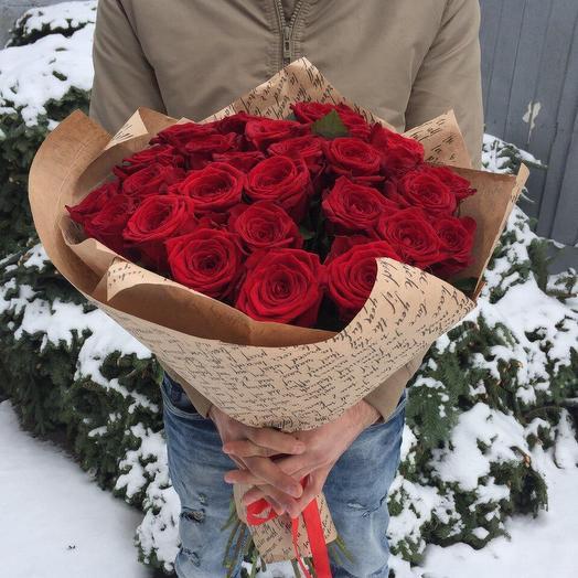 Розы Ред найоми: букеты цветов на заказ Flowwow