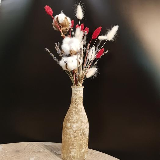 Интерьерная композиция в стильной вазе: букеты цветов на заказ Flowwow