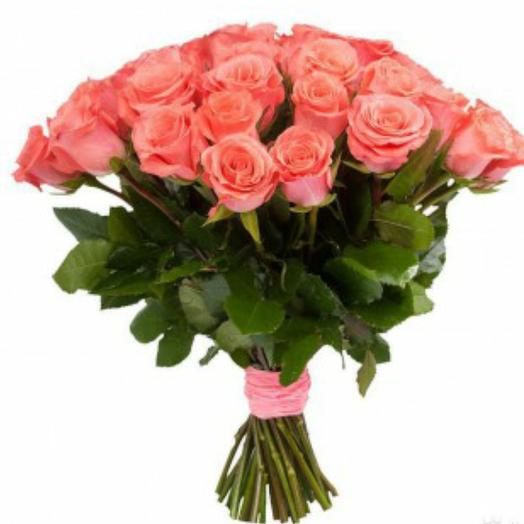 """Букет из 25 роз Эквадор сорта """"Сага"""": букеты цветов на заказ Flowwow"""