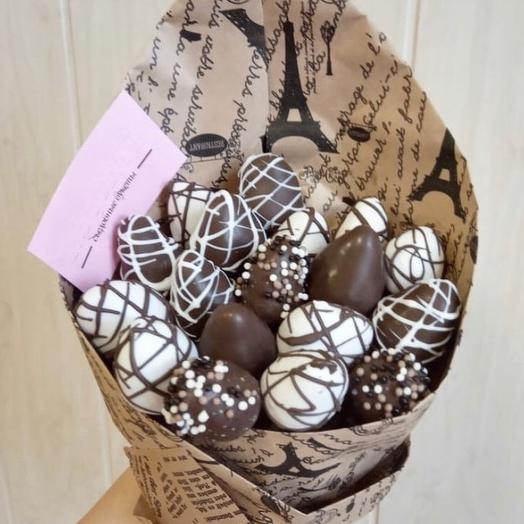 Клубничный букет «Шоколадный рай»: букеты цветов на заказ Flowwow