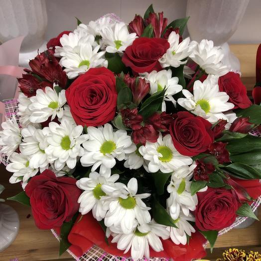 Яркий закат: букеты цветов на заказ Flowwow