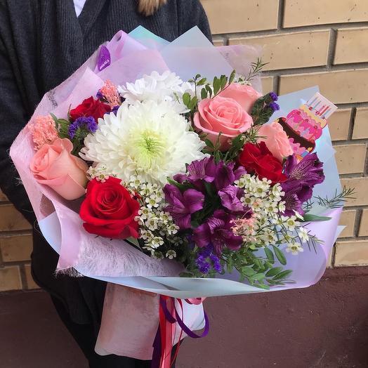 С днём рождения: букеты цветов на заказ Flowwow