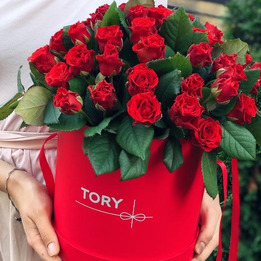 """Розы в коробке """"С любовью к тебе"""""""