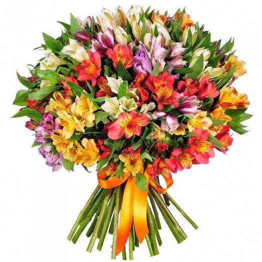 """Букет альстромерий """"Ассорти"""": букеты цветов на заказ Flowwow"""