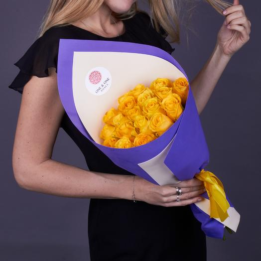 19 роз премиум сорта Брайтон: букеты цветов на заказ Flowwow