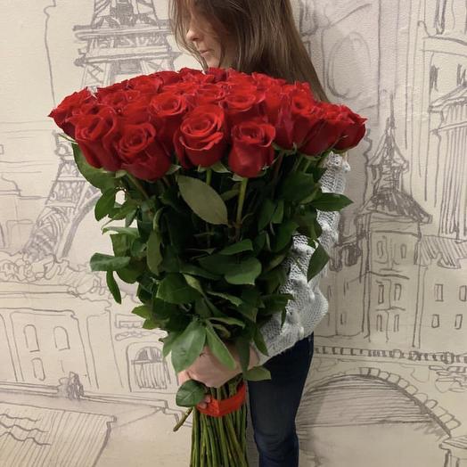 25 Голландских красных роз Freedom