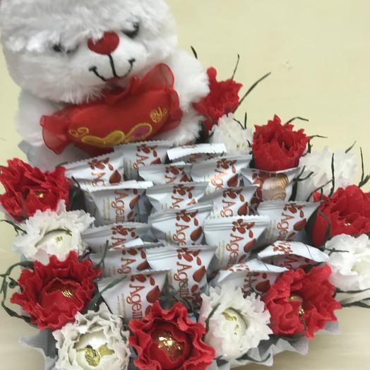 Сказочный медвежонок: букеты цветов на заказ Flowwow