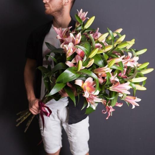 Лилия Премиум 5 шт: букеты цветов на заказ Flowwow