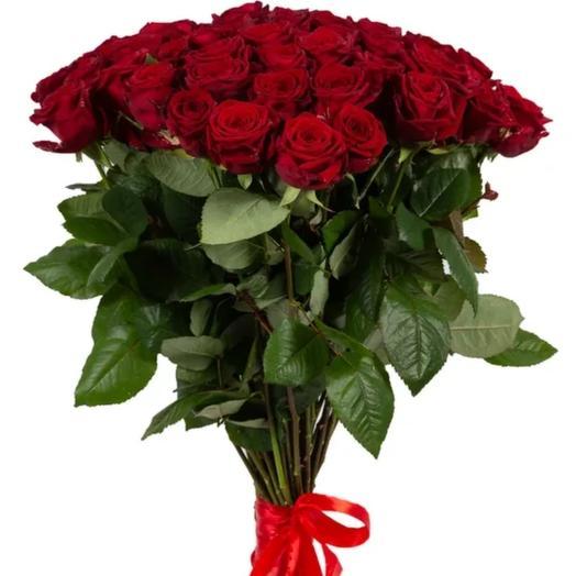 Букет 25 красных роз 50 см