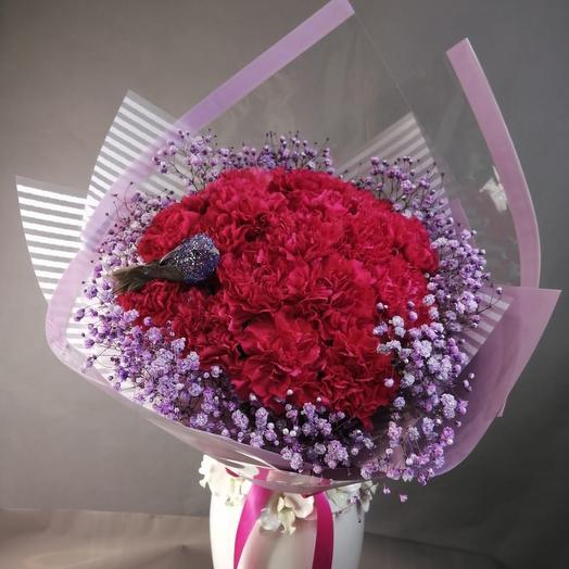 Букет из гвоздики: букеты цветов на заказ Flowwow