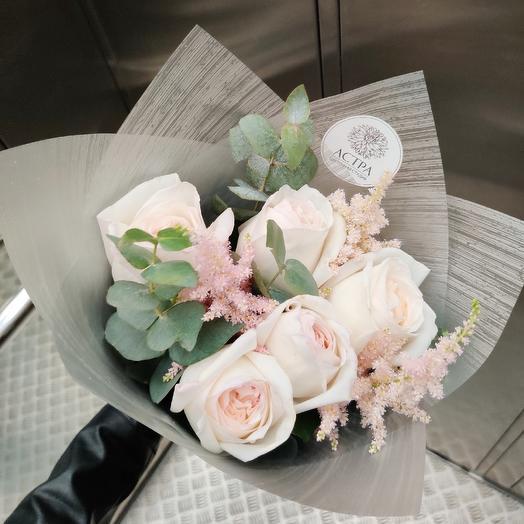 Медовые розы (маленький ): букеты цветов на заказ Flowwow