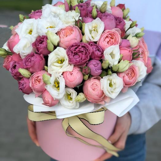Коробка из кустовой розы Невероятная