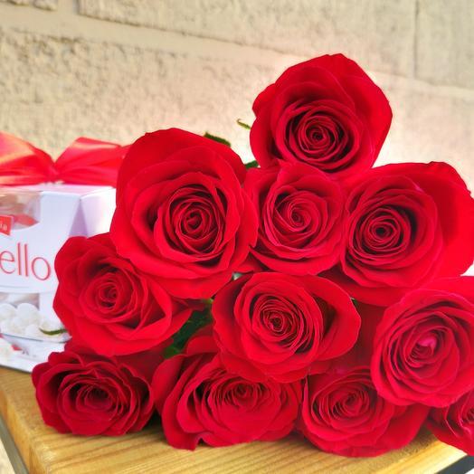 11 роз и конфеты