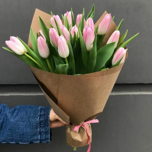 Букет из 15 тюльпан: букеты цветов на заказ Flowwow