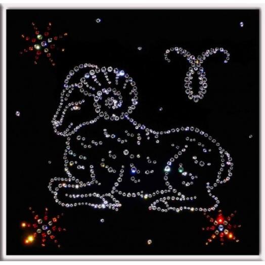 "Картина с кристаллами Swarovski ""Овен"""