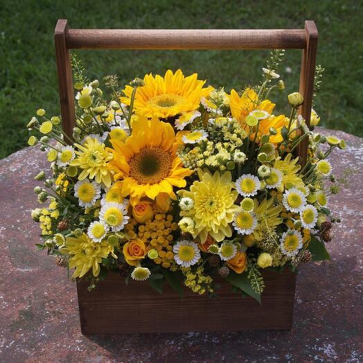 Ящик с цветами Солнышко